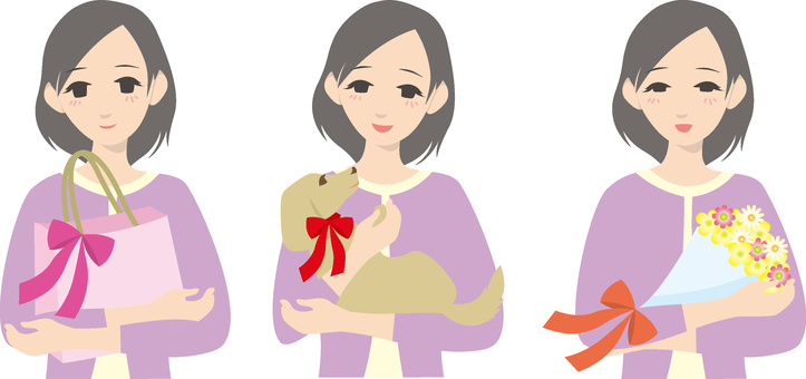 Set of women who received gifts