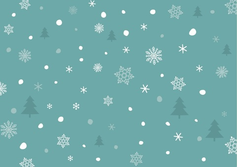 Christmas tree and snow background