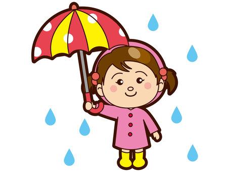 A girl holding an umbrella