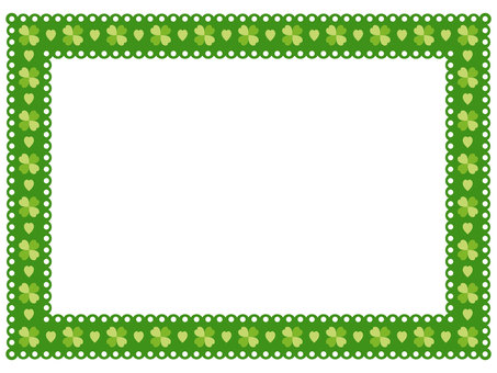 Clover pattern lace frame 3