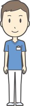 Nurse scrub male -214 - whole body