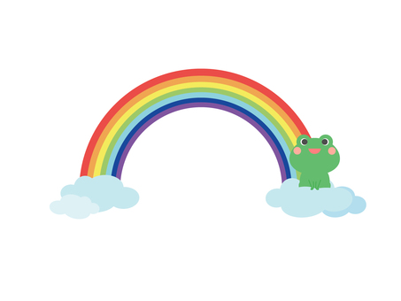 Rainbow and frog