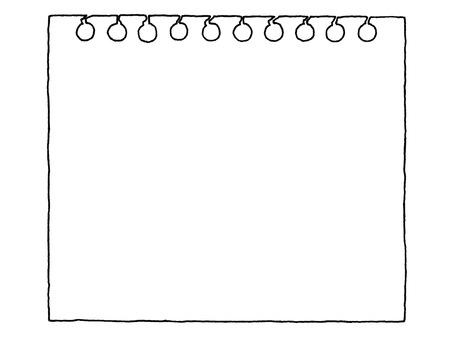 Notepad monochrome