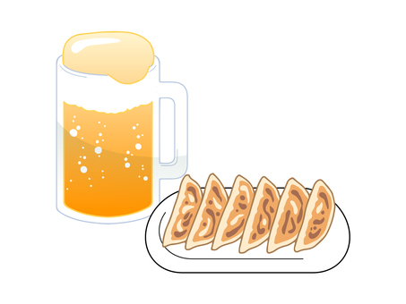 Dumplings and beer set