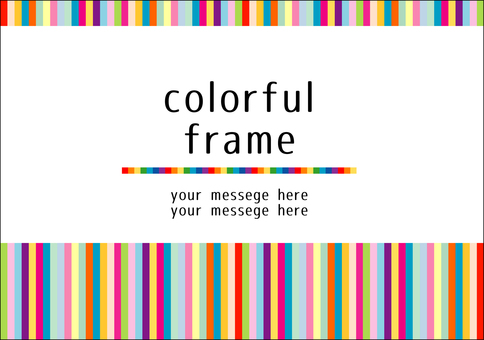 Colorful frame