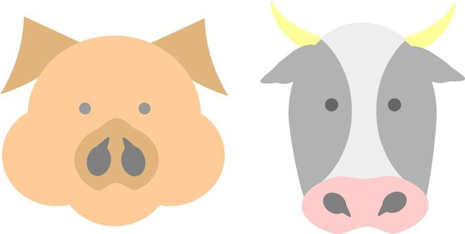 Pigs and cattle