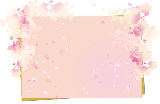 Spring cherry frame 4