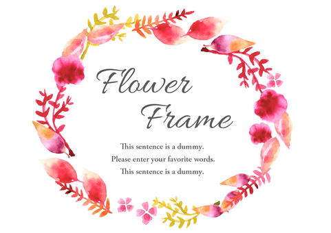 Watercolor material 009 Flower frame
