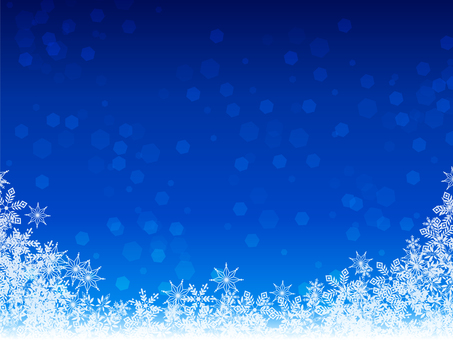 Snow crystal background · Winter · December