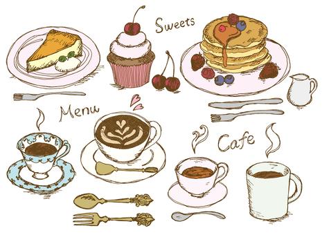 咖啡廳菜單真正的顏色