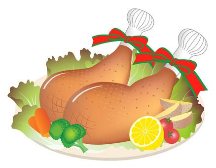 로스트 치킨 닭 허벅지 살