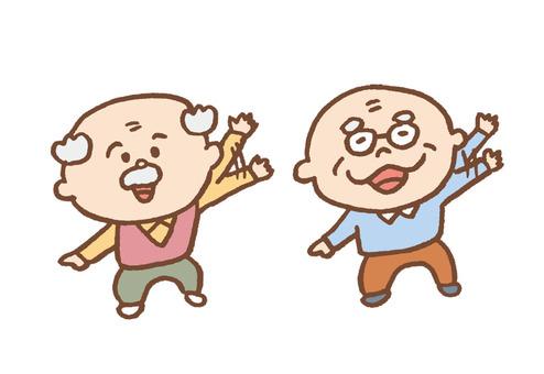 Grandpa waving hand