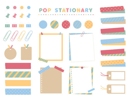 Stationery material set
