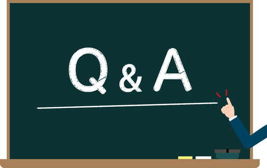 Q & A blackboard image