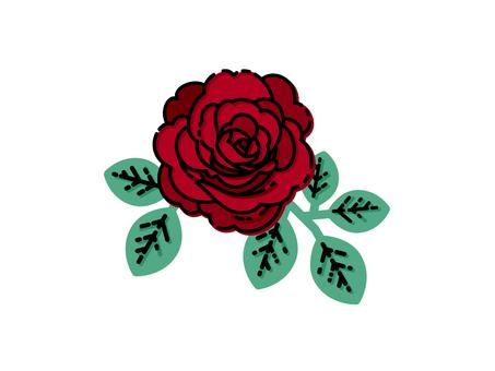 Red rose material