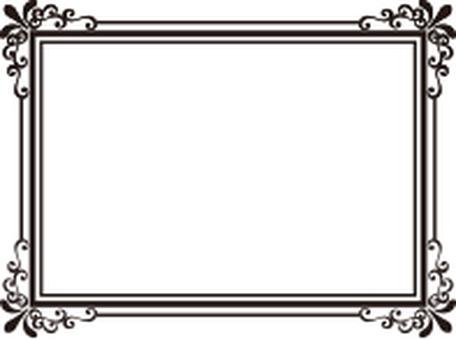 Decorative frame rectangle