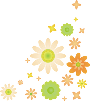 Flower 03 - Corner frame 01