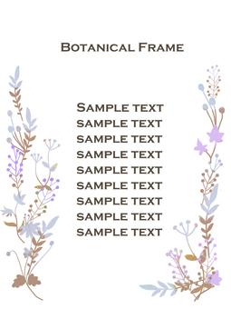 Plant silhouette frame 2