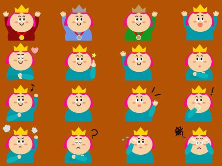 Crown-capped princess character