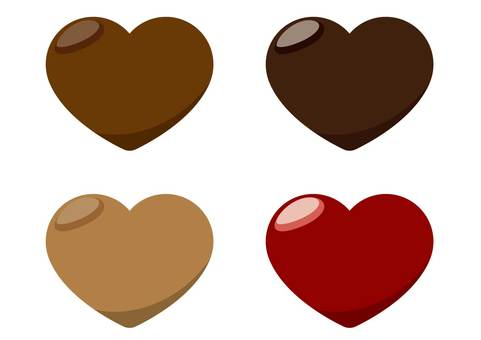 心形的巧克力