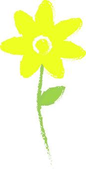 Yellow flower (hand-drawn style)