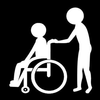 Pictogram wheelchair assistance reversal