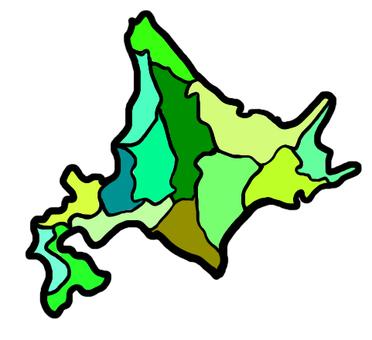 홋카이도 컬러지도