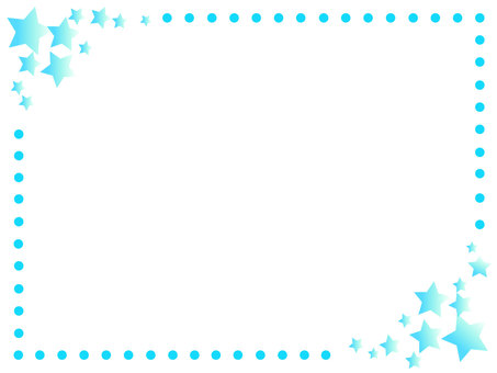 Star frame light blue