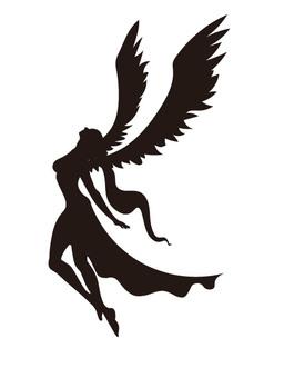 Angel silhouette 4