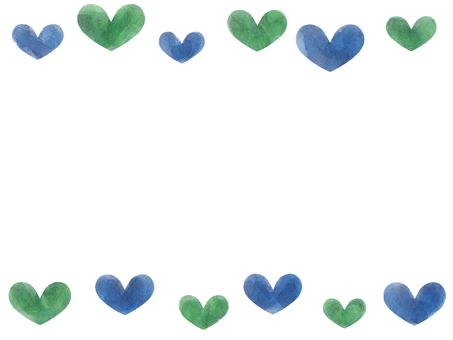 Watercolor frame Heart
