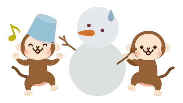 Snowman and Osaka