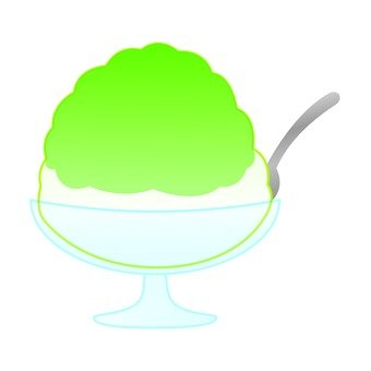 Shaved ice (melon)