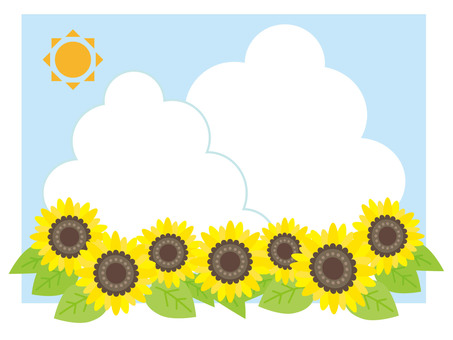 Sunflowers and approach clouds (frame)