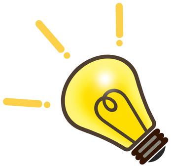 Light bulb flash