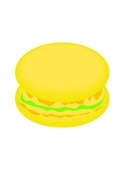 마카롱 (레몬)