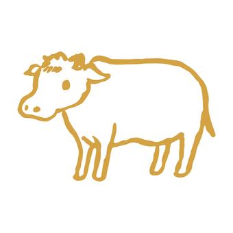牛手繪插圖