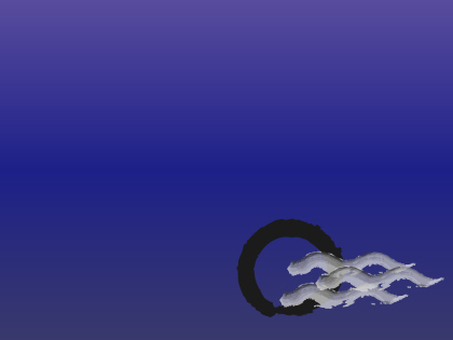 Moon and wave