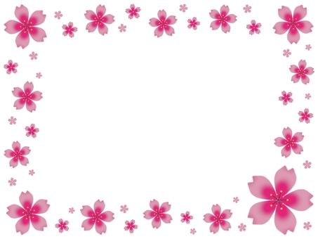 Cherry Blossoms Frame (Pink)