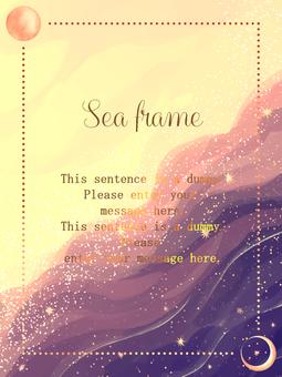 바다 프레임 / 보라색