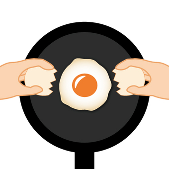Where to make fried eggs