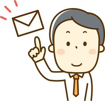 Businessman sending mail