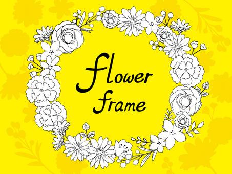 Botanical flower frame 03