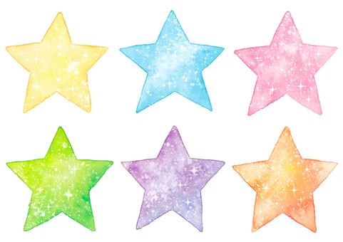 Watercolor twinkle stars