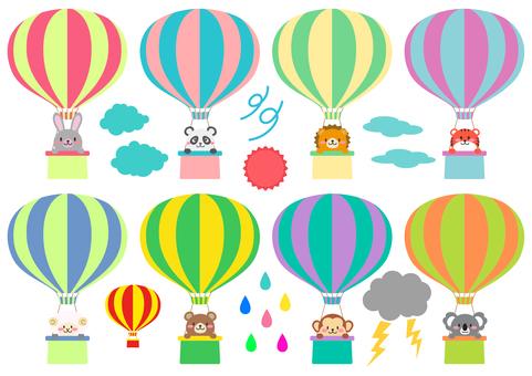 동물 풍선 날씨