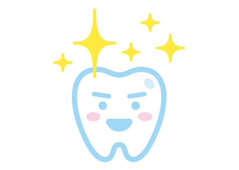 Tooth shiny