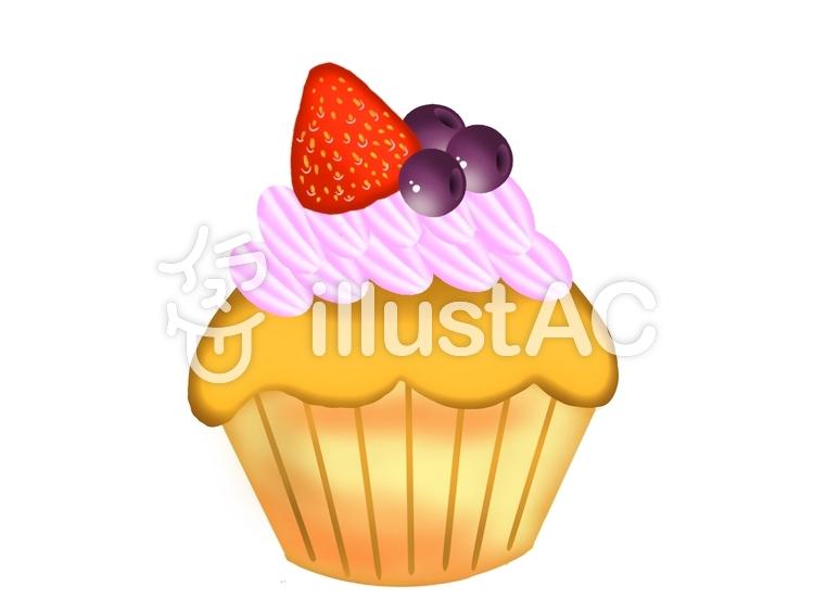 カップケーキ②のイラスト