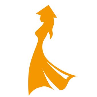 Silhouette of a woman wearing ao dai
