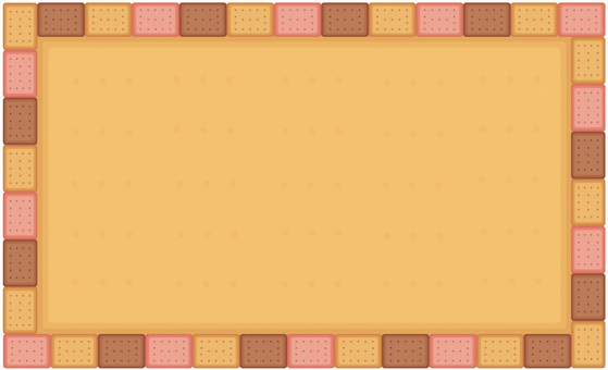 Three-color biscuit frame: cocoa strawberry