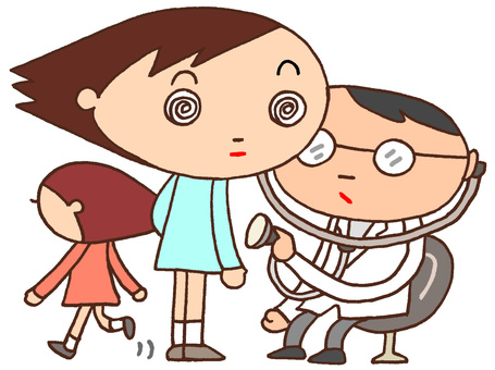 Elementary school character character · medical examination
