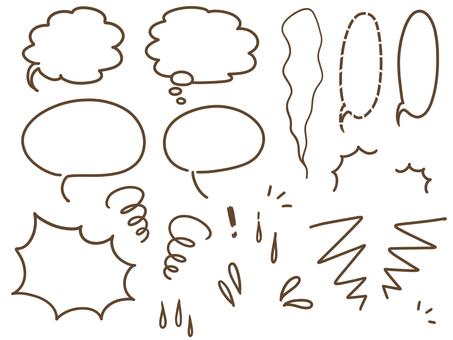 Speech balloon / heart line set
